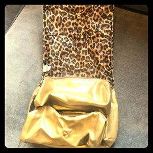 Gold Travel Cosmetics Bag